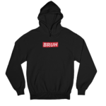 Bruh Supreme White Gender Neutral Hoodie