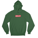 Bruh Supreme Green Gender Neutral Hoodie