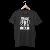 Comedy Area Black Half Sleeve T-Shirt