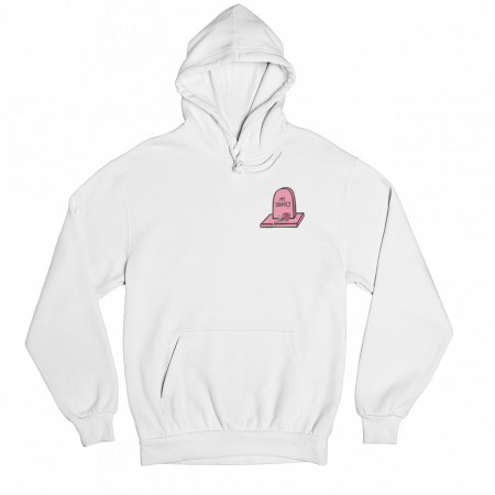 Dignity White Gender Neutral Hoodie