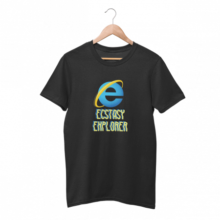 Ecstasy Explorer Black Half Sleeve T-Shirt