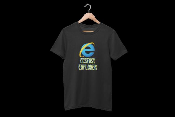 Ecstasy Explorer Black Half Sleeve T-Shirt