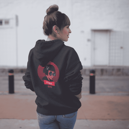 Fake Retro 1 Gender Neutral Hoodie
