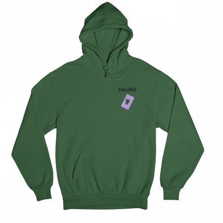 Feelings Green Gender Neutral Hoodie