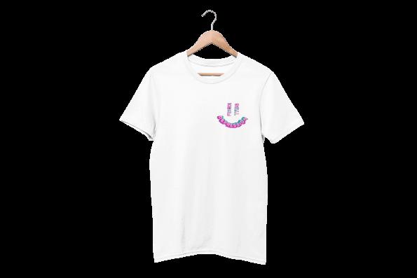 Fuck Depression White Half Sleeve T-Shirt