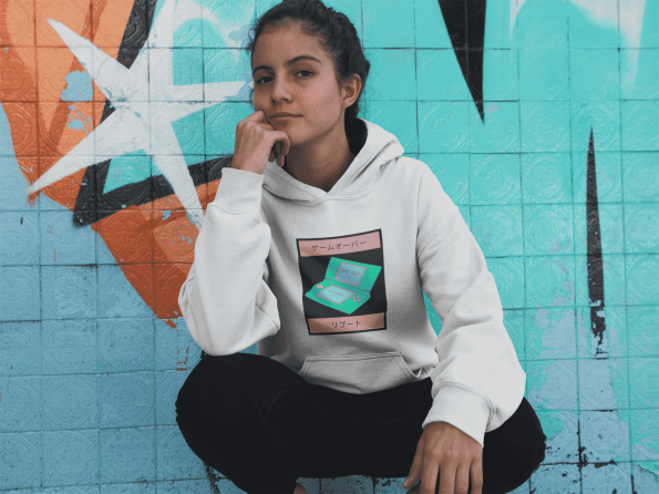 Game Over Gender Neutral Hoodie