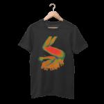 Get Over It Black Half Sleeve T-Shirt