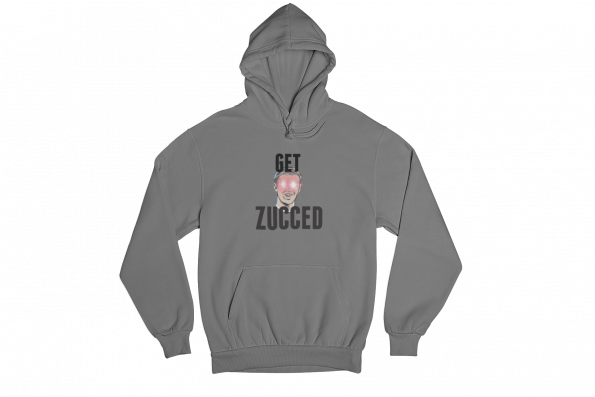 Get Zucced Grey Gender Neutral Hoodie