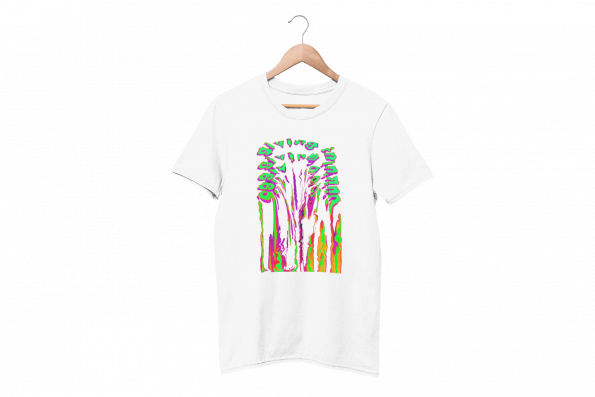 Giving In White Half Sleeve T-Shirt