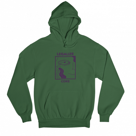 Legalise Coke Green Gender Neutral Hoodie