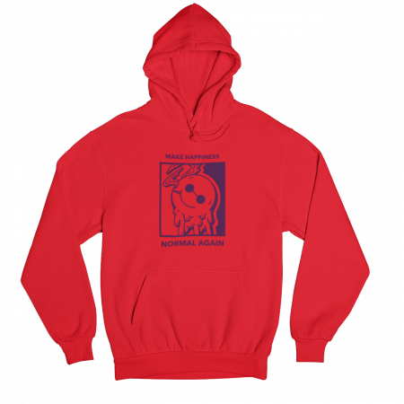 Make Happiness Normal Again Red Gender Neutral Hoodie