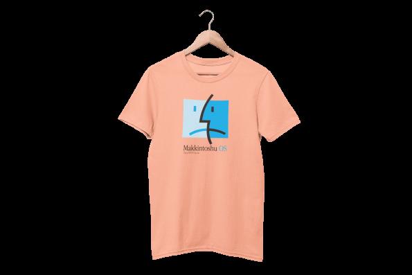Makkintoshu OS Cotton Candy Pink Half Sleeve T-Shirt