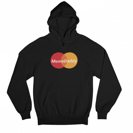 Meme Daddy Black Gender Neutral Hoodie