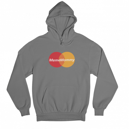 Meme Mommy Grey Gender Neutral Hoodie