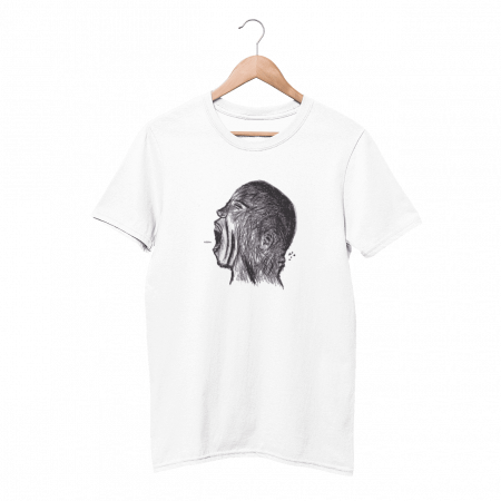 Meow White Half Sleeve T-Shirt