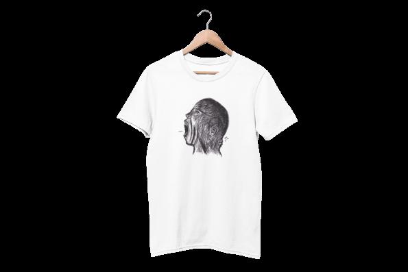Meow White Half Sleeve T-Shirt