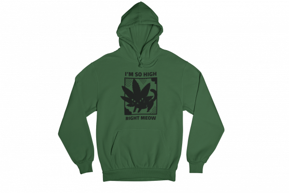 Freaking Meowt Green Gender Neutral Hoodie