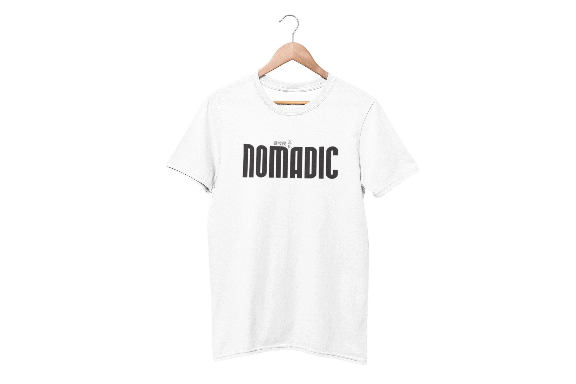 Nomadic White Half Sleeve T-Shirt