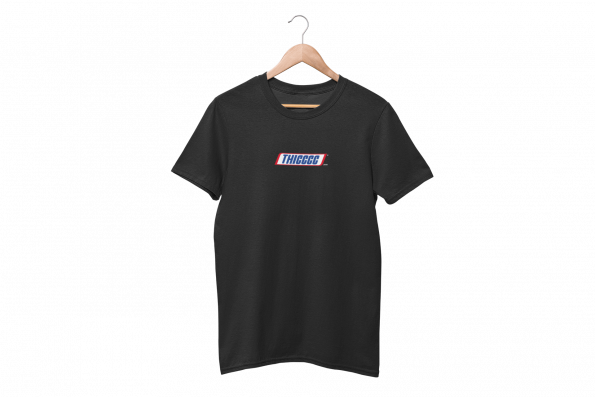 Thiccc Black Half Sleeve T-Shirt