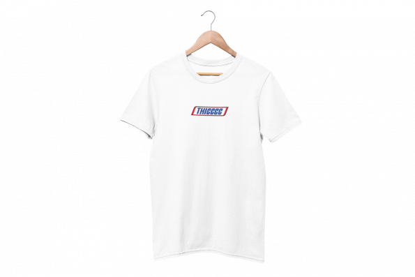 Thiccc White Half Sleeve T-Shirt