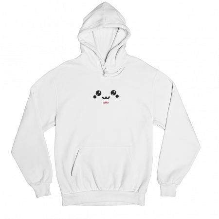 uWu White Gender Neutral Hoodie