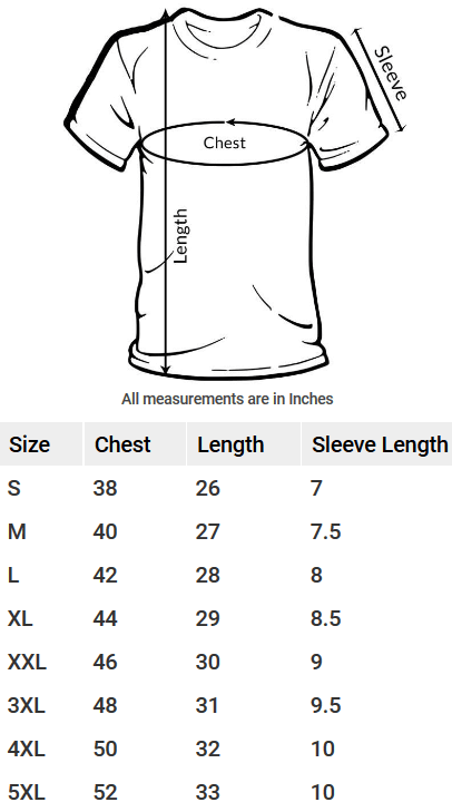 Half-Sleeve-T-Shirt-Size-Guide