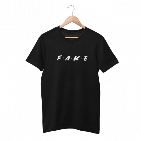 Fake Frens Black Half Sleeve T-shirt