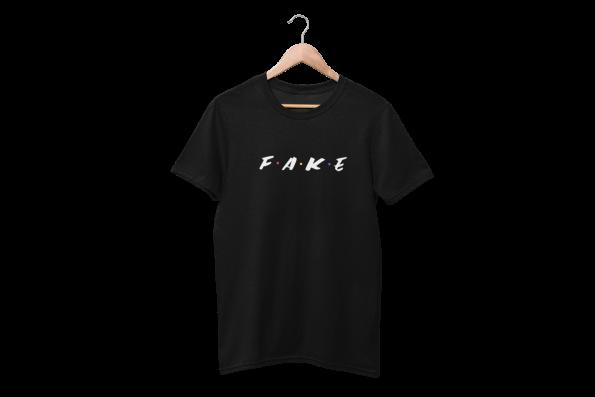 Fake Frens Black Half Sleeve T-shirt