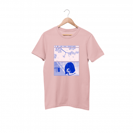 It be like that sometimes cotton candy pink half sleeve t-shirt