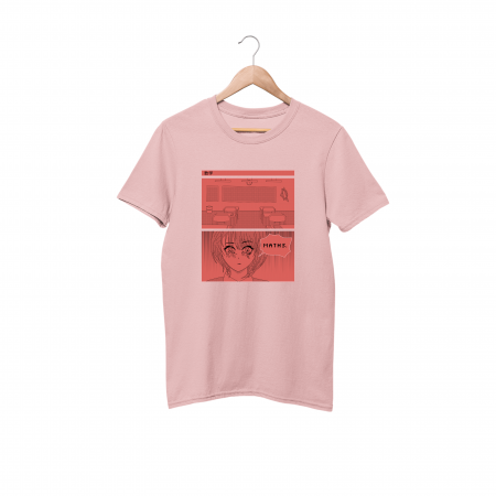 Maths cotton candy pink half sleeve t-shirt