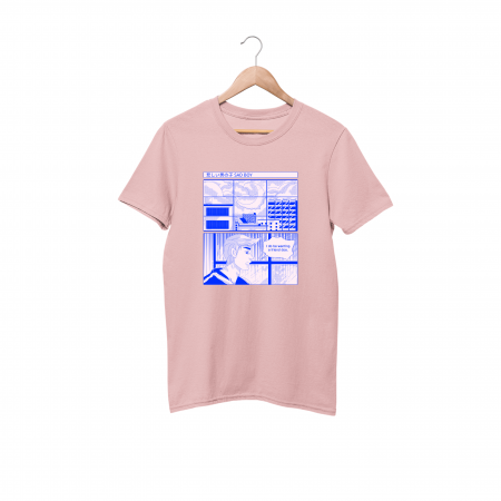 Sad Boy Cotton Candy Pink Half Sleeve T-Shirt