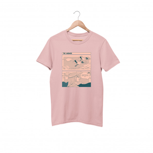 The Answer Cotton Candy Pink Half Sleeve T-Shirt