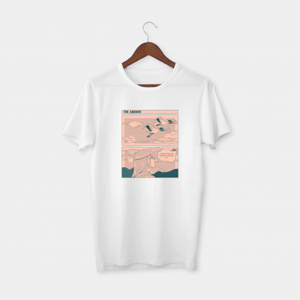 The Answer White Half Sleeve T-Shirt