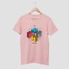 bruh bottom text pink half sleeve tshirt