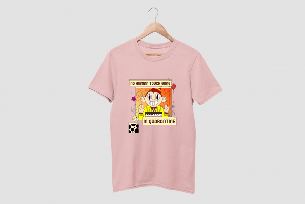 no human touch pink half sleeve tshirt