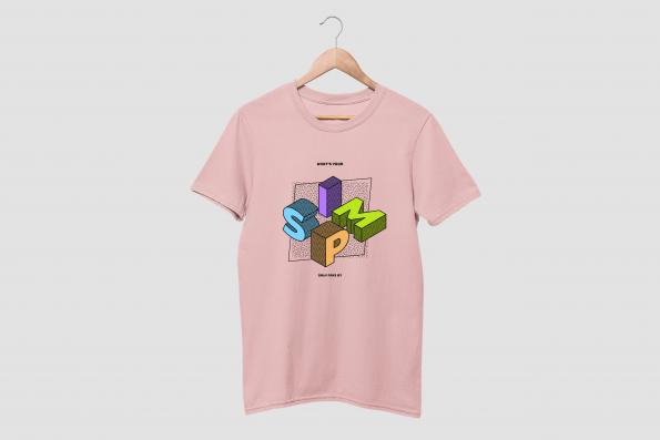 simp pink half sleeve tshirt