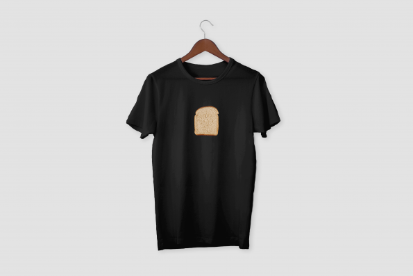 Bread Black Half Sleeve T-Shirt