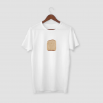 Bread White Half Sleeve T-Shirt