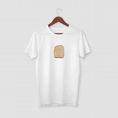 Bread White Half Sleeve T-Shirt
