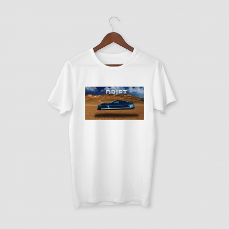 DRIFT White Half Sleeve T-Shirt