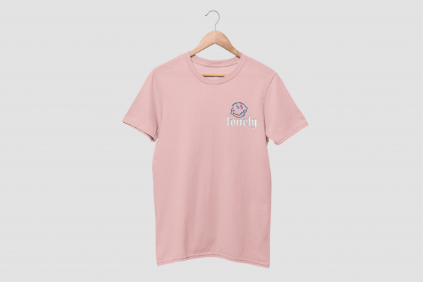 Lonely Cotton Candy Pink Half Sleeve T-Shirt
