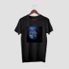 MASKED EARTH Black Half Sleeve T-Shirt