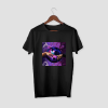 YIN YANG SPACE TRIP Black Half Sleeve T-Shirt