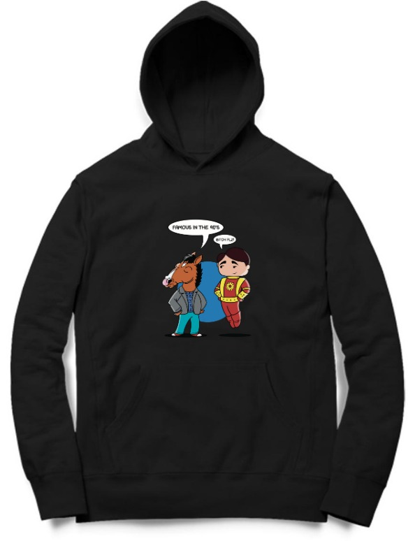 Famous in the 90s Black Hoodie