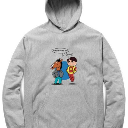 Famous in the 90s Grey Hoodie