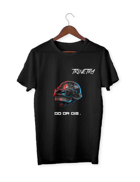 Trinetra Black Half Sleeve T-Shirt
