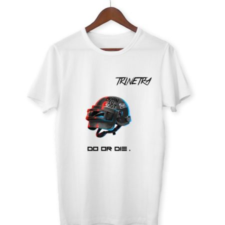 Trinetra White Half Sleeve T-Shirt