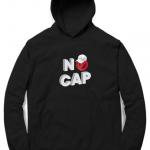 no cap hoodie black
