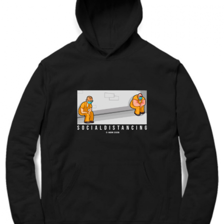 Social Distancing black hoodie