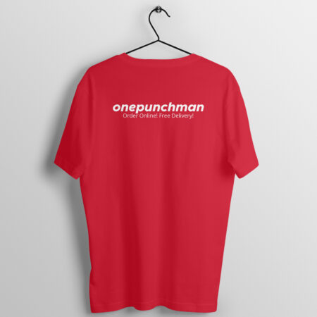 One Punch Man Red Half Sleeve T-Shirt